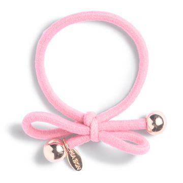 Ia Bon Hair Tie Gold Bead Light Pink Hårsnodd. 1st
