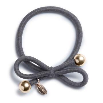 Ia Bon Hair Tie Gold Bead Steel Grey Hårsnodd. 1st
