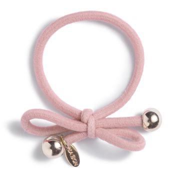Ia Bon Hair Tie Gold Bead Powder Pink Hårsnodd. 1st