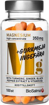 Biosalma Magnesium + Gurkmeja, Ingefära 100 tabletter
