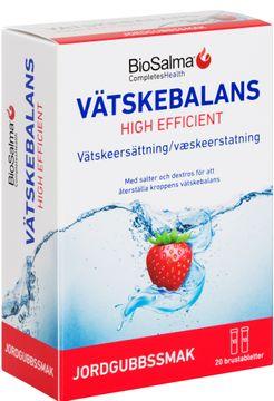 Biosalma Vätskebalans Jordgubb. 20 brustabletter