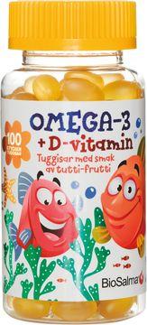 Biosalma Omega3, Barn Tutti-Frutti Tuggisar 100 kapslar