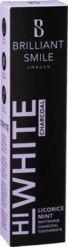 Brilliant Smile Licorice Mint HiWhite Charcoal. Whitening tandkräm. 65 ml