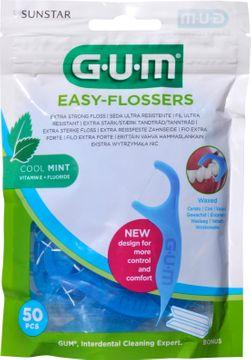 GUM Easy-Flossers Tandtråd med bygel. Cool mint. 50 st