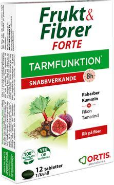 Ortis Frukt & Fiber Forte Tablett, 12 st