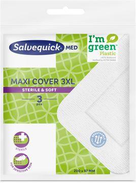 Salvequick Maxi Cover Extra stort sterilt snabbförband. 3 st