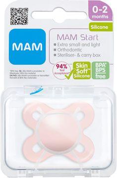MAM Start Silk Pink Napp 0-2 månader. 1 st