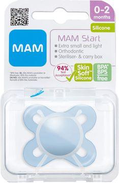 MAM Start Silk Blue Napp 0-2 månader. 1 st