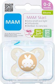 MAM Start Silk Neutral Napp 0-2 månader. 1 st