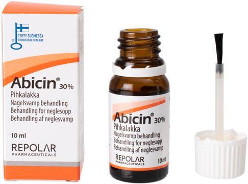 Abicin 30% Nagelsvamp behandling Lokalbehandling av nagelsvamp. 10 ml