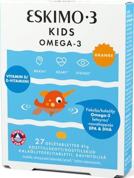 Eskimo-3 Kids Chewable Omega-3 för barn. 27 gelétabletter