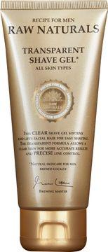 Raw Naturals Transparent Shave Gel Transparent rakgel. 75 ml