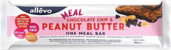 Allévo One Meal Chocolate Chip & Peanut Butter Måltidsersättning, 56 g