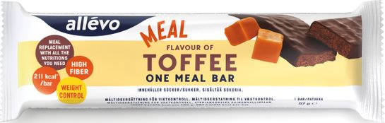 Allévo One Meal Toffee Måltidsersättning, 57 g