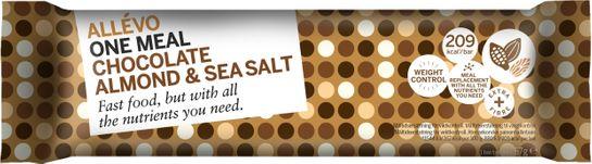 Allévo Chocolate Almond & Sea Salt One Meal. Måltidsersättning bar. 57 g