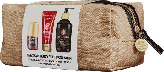 Raw Naturals Body & Face Kit Deodorant, duschgel och ansiktskräm
