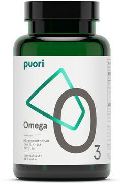 Puori O3 Omega-3 Koncentrerad fiskolja. 60 kapslar