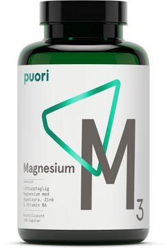 Puori M3 Magnesium & Zink 180 kapslar