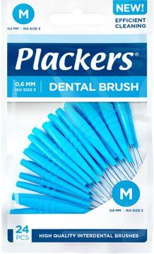 Plackers Dental Brush M 0.6 mm Mellanrumsborste. 24 st