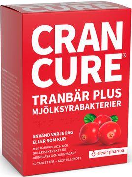 Elexir Pharma Cran Cure Mjölksyrabakterier tabletter. 60 st