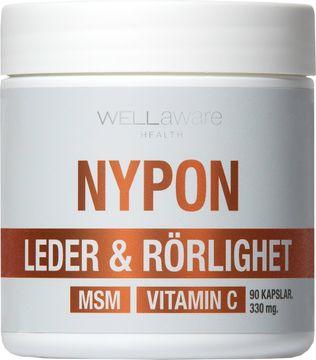 WellAware Nypon + MSM + Vitamin C Kapsel, 90 st