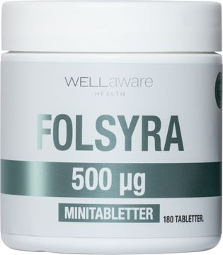WellAware Folsyra 180 tabletter