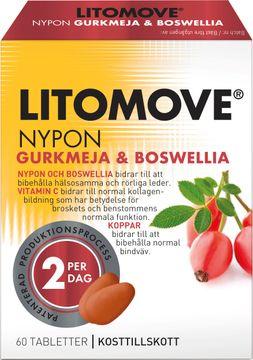Litomove Gurkmeja & Boswellia Hälsosamma och rörliga leder. 60 tabletter