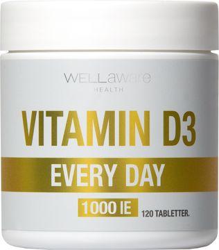 WellAware Vitamin D 1000IE Kosttillskott tabletter. 120 st