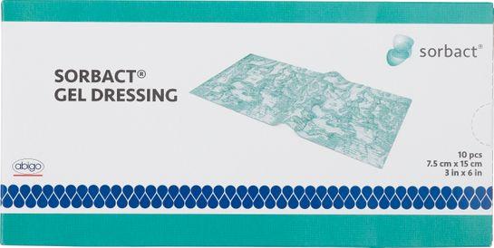 Sorbact Gel Dressing Kompress med gel. 7.5x15 cm. 10 st