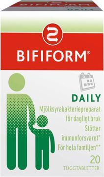 Bifiform Daily mjölksyrabakterier Tuggtablett, 20 st