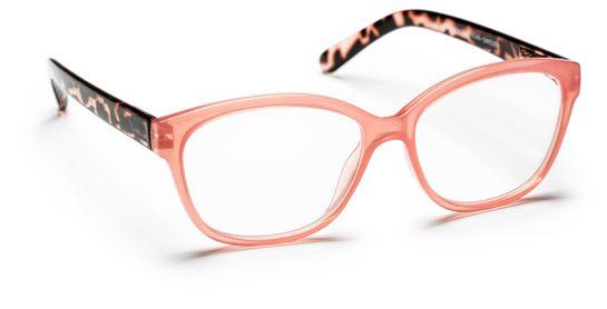 Haga Optik Sala +1.0. Rosa/Transparent. Läsglasögon. 1 st