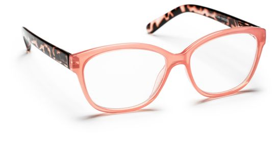 Haga Optik Sala +2.5. Rosa/Transparent. Läsglasögon. 1 st