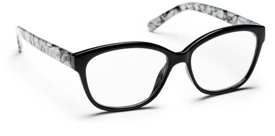 Haga Optik Sala +2.0. Svart/Mönster. Läsglasögon. 1 st