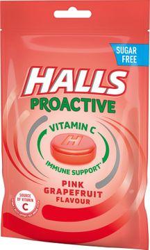 Halls Proactive Pink Grapefruit Sockerfri halstablett. 65 g