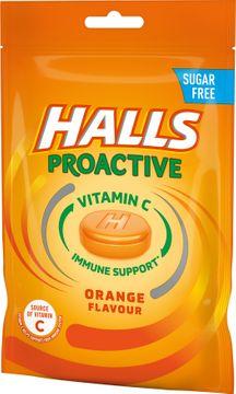 Halls Proactive Orange Halstablett, 65 g