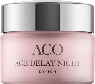 ACO Age Delay Night Dry Skin Anti-age nattkräm. 50 ml