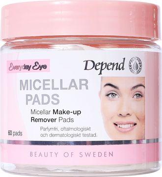 Depend Micellar Make-up Removal Pads Sminkborttagning. 60 st