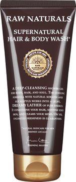 Raw Naturals 3 in 1 Supernatural Hair & Body Wash Fuktbevarande duschgel och schampo 200 ml