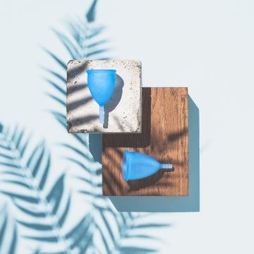 Lunette Menskopp Blå Strl 2. Mensskydd. 1 st
