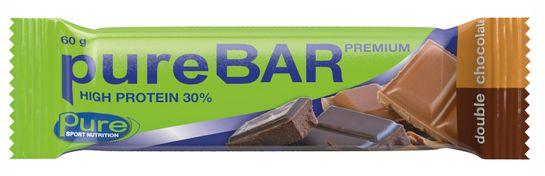 Pure Bar Premium Double Chocolate. 60 g