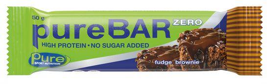 Pure Bar Zero Fudge Brownie. 50 g