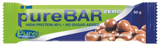 Pure Bar Zero Crunchy Milk Chocolate. 50 g