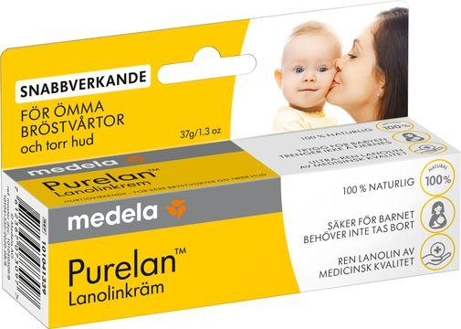 Medela Purelan Lanolinkräm Bröstvårtskräm, 37 g