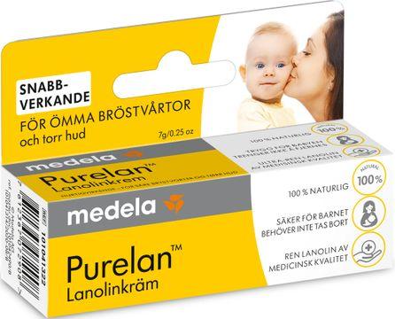 Medela Purelan Lanolinkräm Bröstvårtskräm. 7 g