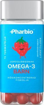 Pharbio Omega-3 Barn Koncentrerad fiskolja. 70 tuggkapslar