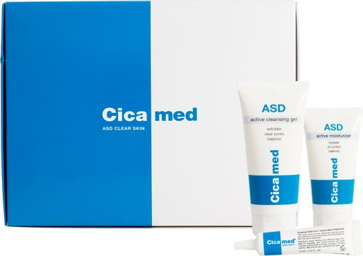 Cicamed ASD Clear Skin kit Kit ansiktsvård, 100+50+15 ml