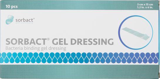 Sorbact Gel Dressing Kompress med gel. 3x15 cm. 10 st