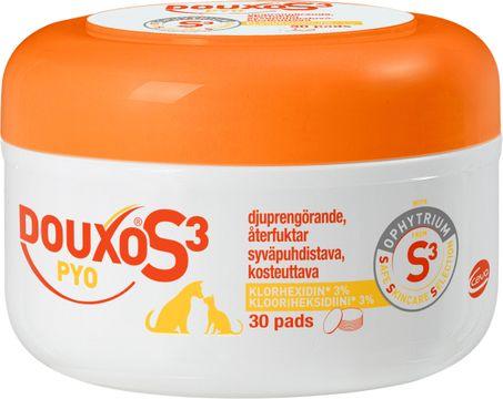 Douxo S3 Pyo Klorhexidin Pads Renggöringspads för djur, 30 st