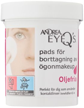 Andrea Eye Q's Remover Pads Oil-free Sminkborttagning. 65 st