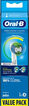 Oral-B Precision Clean tandborsthuvud Tandborsthuvud, 4 st
